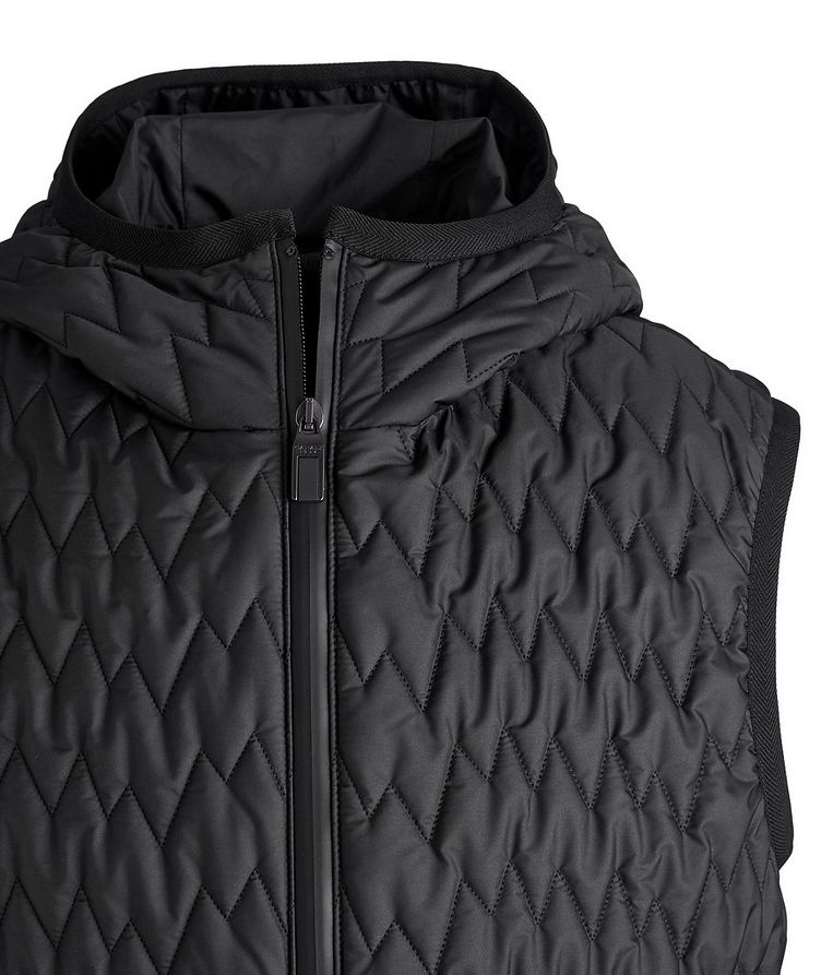 Water-Repellent Quilted Hooded Vest image 2