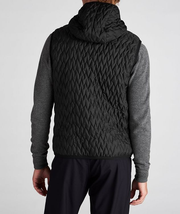 Water-Repellent Quilted Hooded Vest picture 5