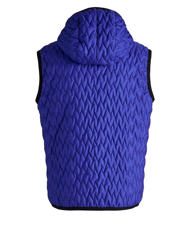 Water-Repellent Quilted Hooded Vest picture 2