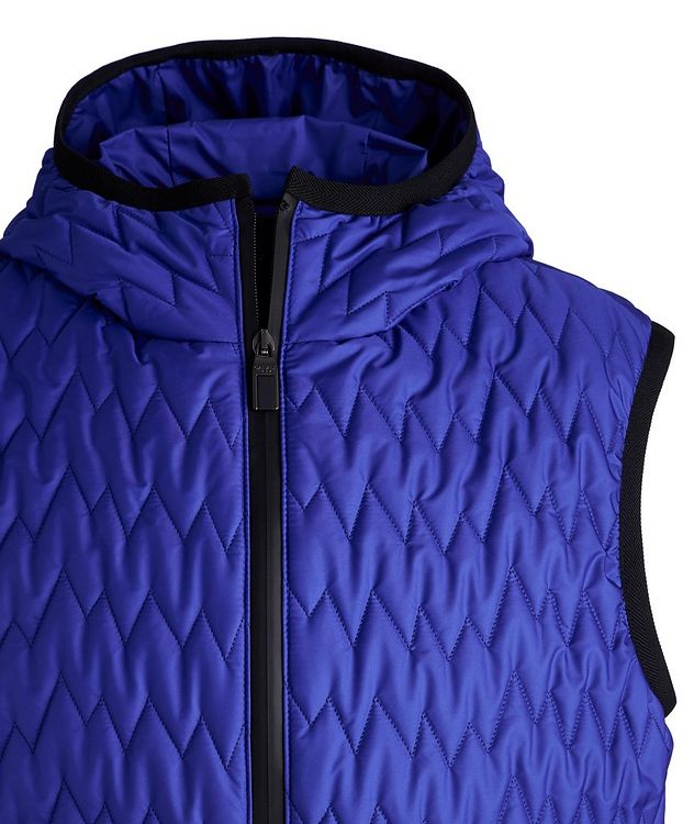 Water-Repellent Quilted Hooded Vest picture 3