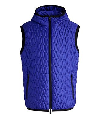Canali Water-Repellent Quilted Hooded Vest