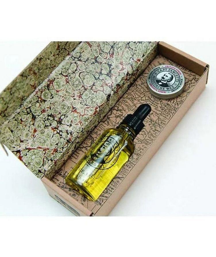 Beard Oil & Moustache Wax Gift Set image 2
