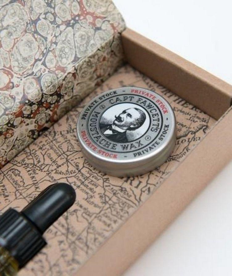 Beard Oil & Moustache Wax Gift Set image 3
