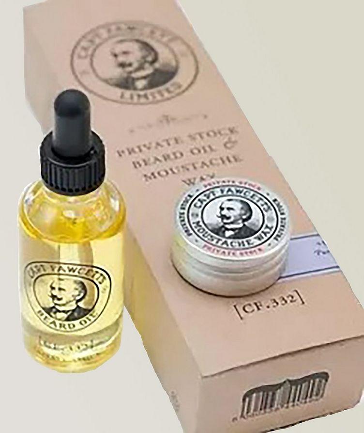 Beard Oil & Moustache Wax Gift Set image 0