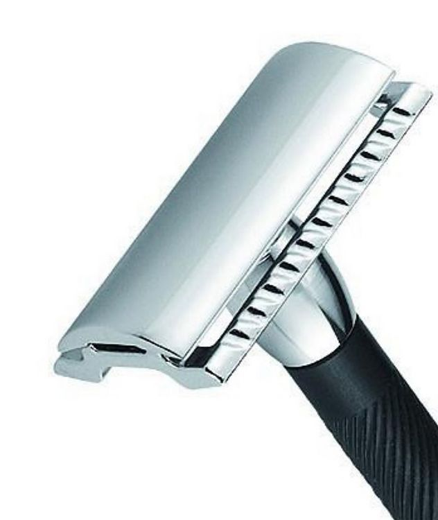 Travel Size Double Edge Safety Razor, Straight Cut picture 2
