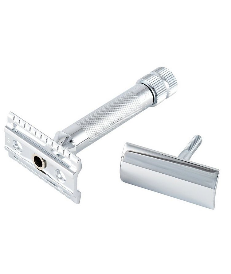 Double Edge Safety Razor, Straight Cut, Extra Thick Handle image 2
