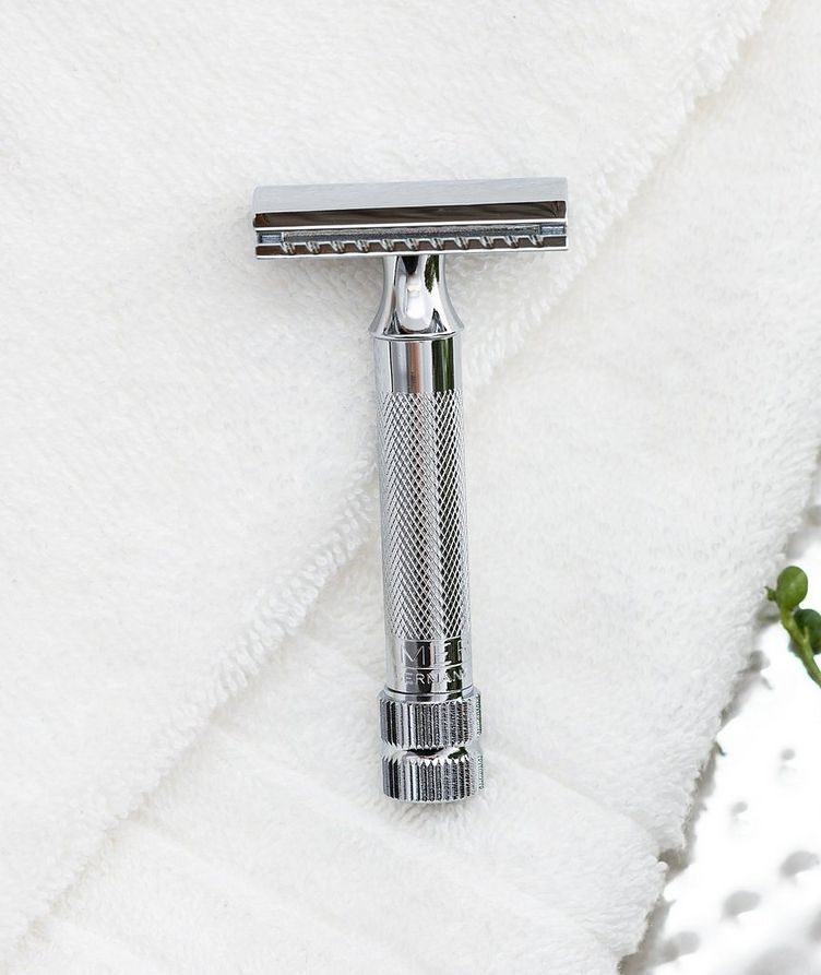 Double Edge Safety Razor, Straight Cut, Extra Thick Handle image 3
