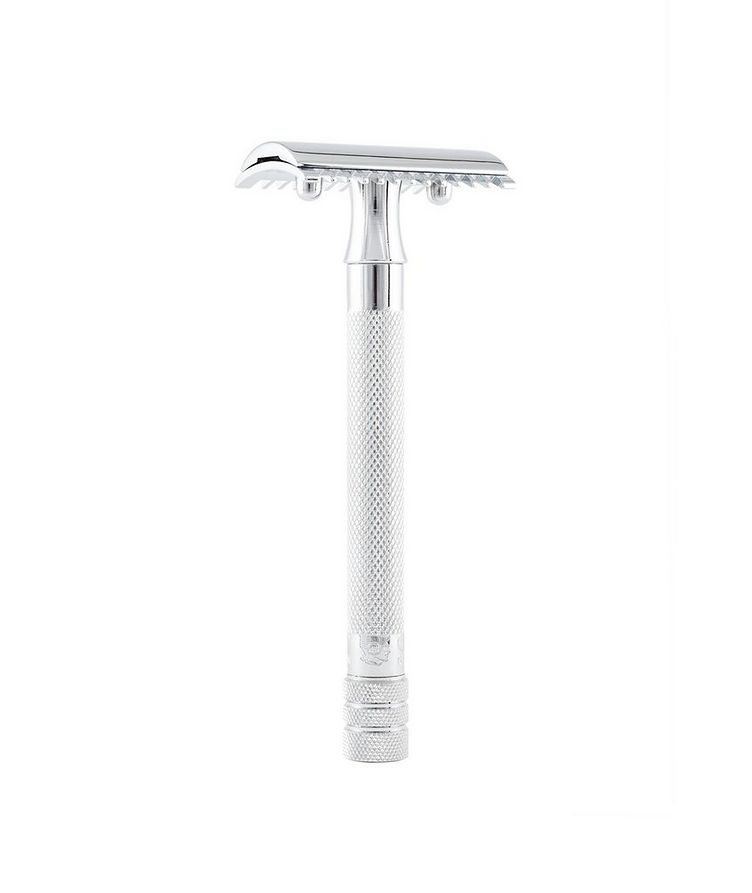 Double Edge Safety Razor, Open Tooth Comb, Extra Long Handle image 0