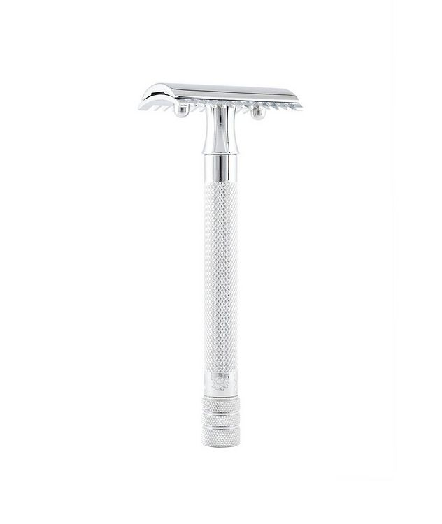 Double Edge Safety Razor, Open Tooth Comb, Extra Long Handle picture 1