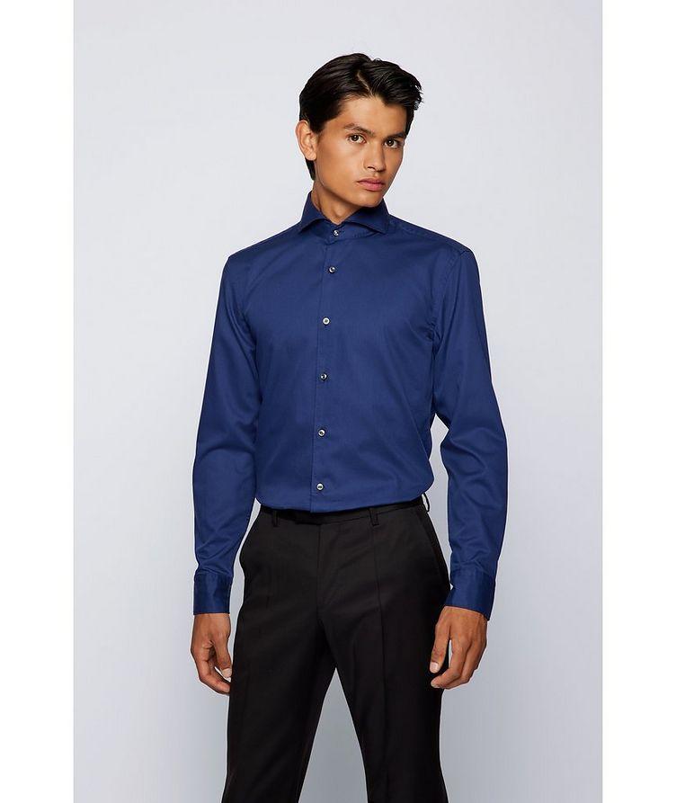 Slim-Fit Two-Tone Dress Shirt image 1