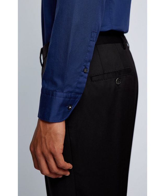 Slim-Fit Two-Tone Dress Shirt picture 4