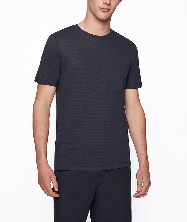 Tiburt Jacquard Cotton-Blend T-Shirt picture 2