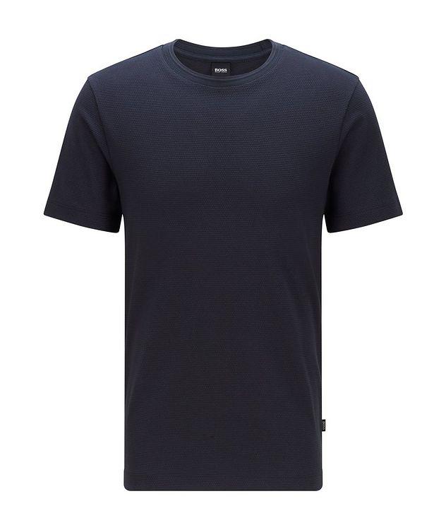 Tiburt Jacquard Cotton-Blend T-Shirt picture 1