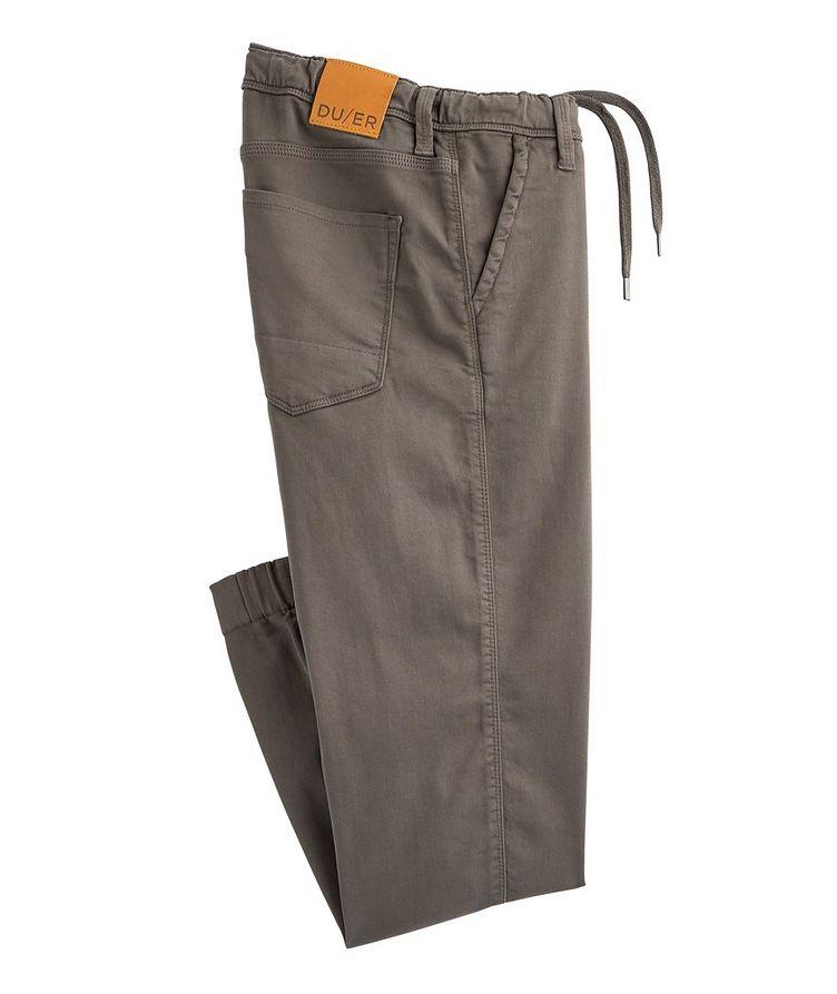 Pantalon sport antisueur en mélange de coton image 0