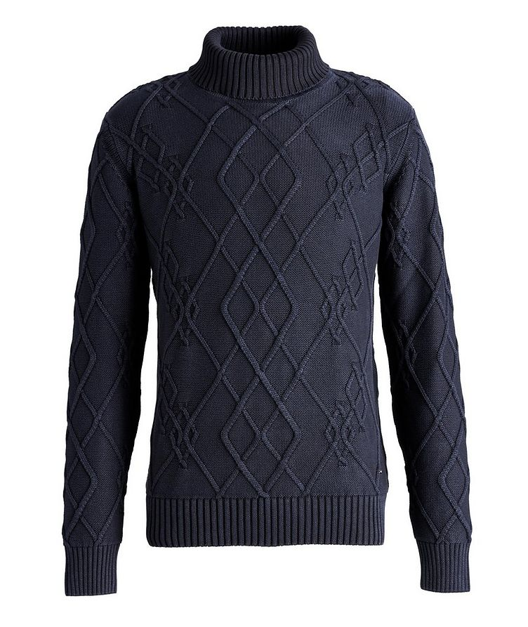 Flaviano Cable Knit Cotton Turtleneck image 0