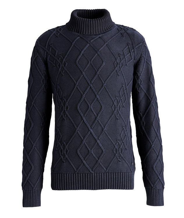 Flaviano Cable Knit Cotton Turtleneck picture 1