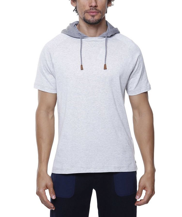 Hooded Knit Cotton T-Shirt image 1