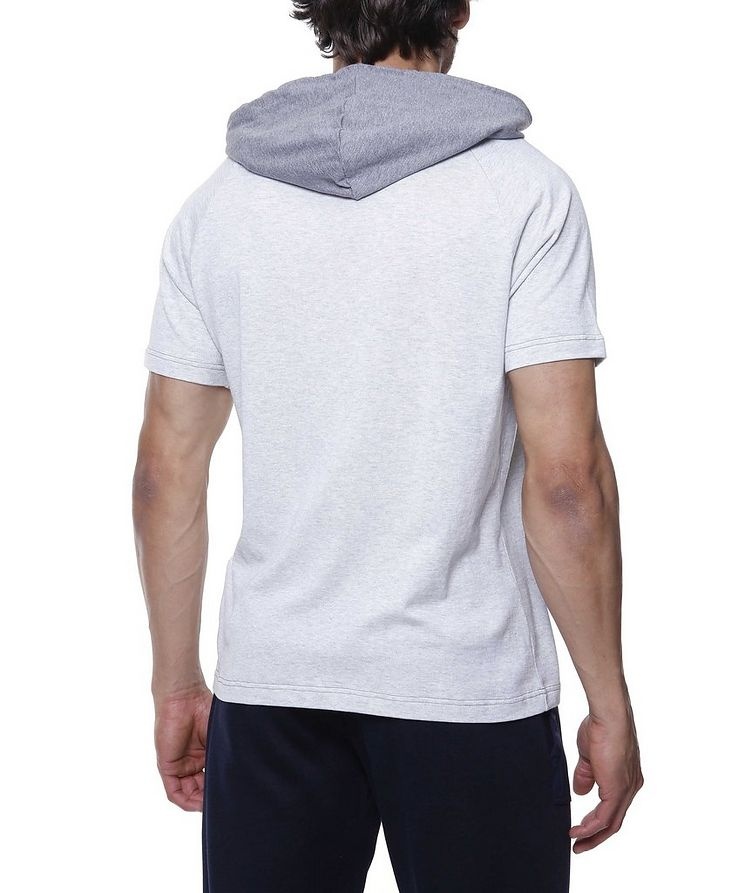 Hooded Knit Cotton T-Shirt image 2