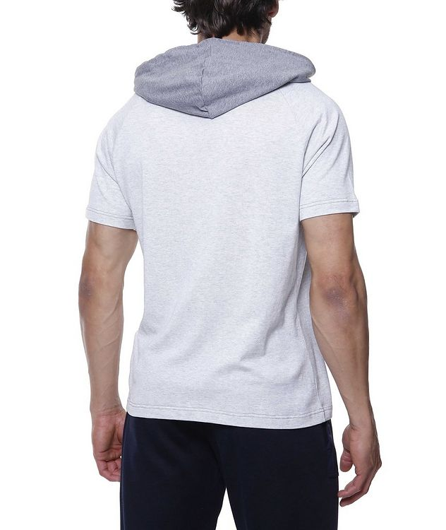 Hooded Knit Cotton T-Shirt picture 3