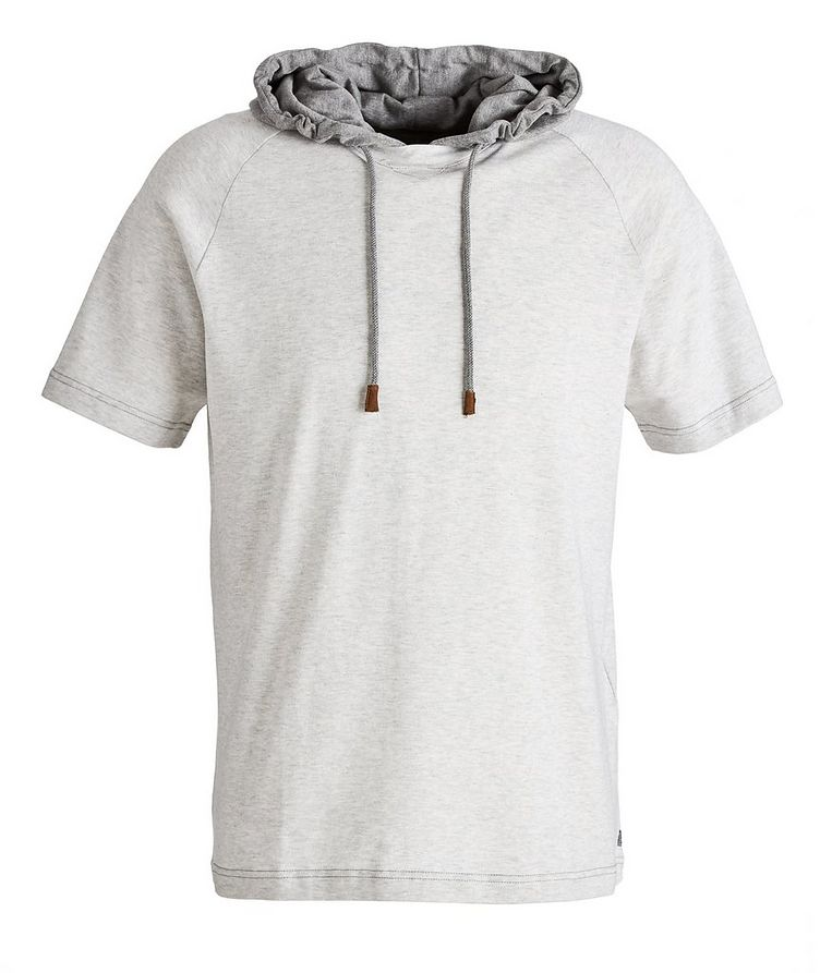 Hooded Knit Cotton T-Shirt image 0