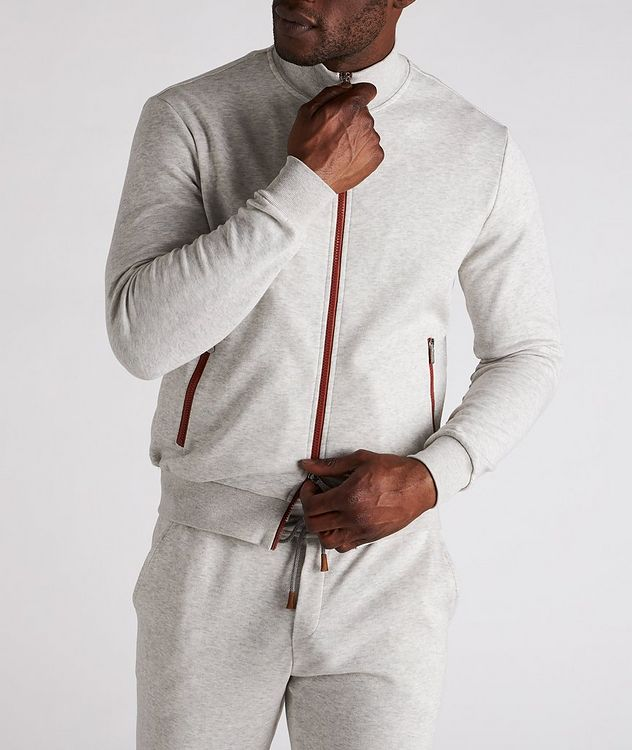 Zip-Up Cotton-Blend Sweater picture 2