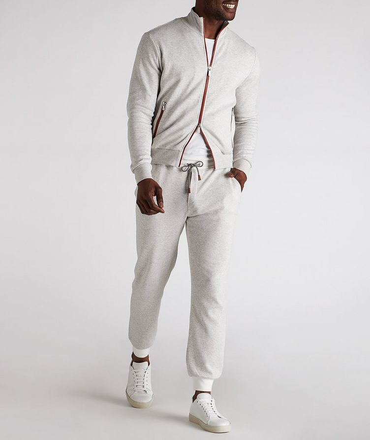 Zip-Up Cotton-Blend Sweater image 4