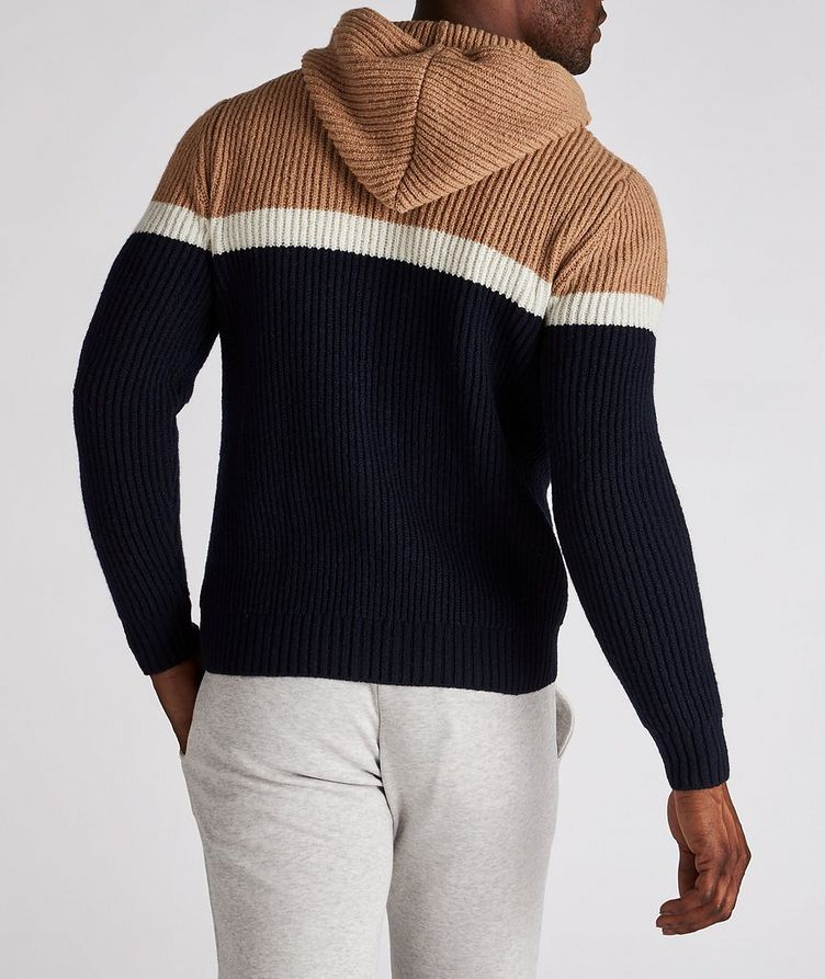 Striped Wool-Cashmere Hoodie image 2