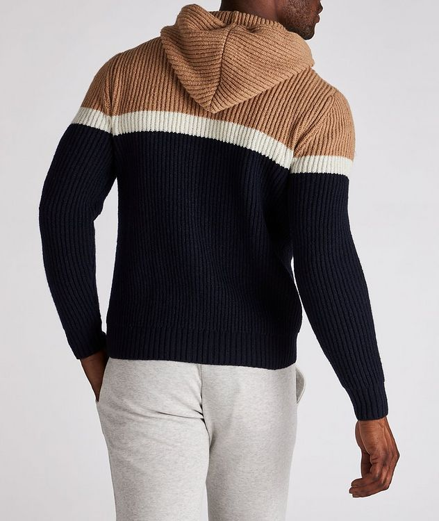 Striped Wool-Cashmere Hoodie picture 3