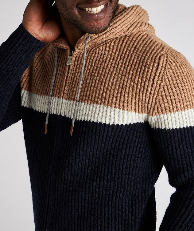 Striped Wool-Cashmere Hoodie picture 4