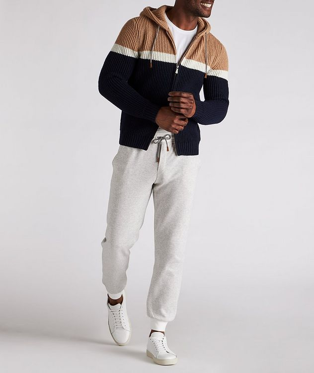 Striped Wool-Cashmere Hoodie picture 5