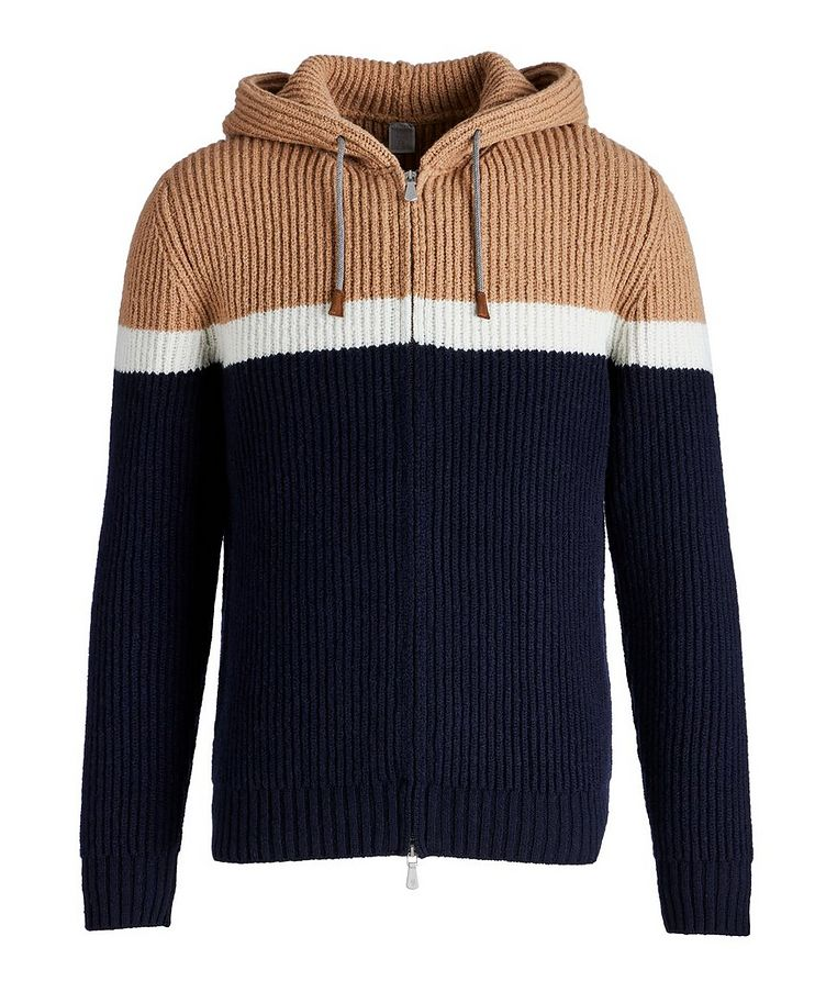 Striped Wool-Cashmere Hoodie image 0