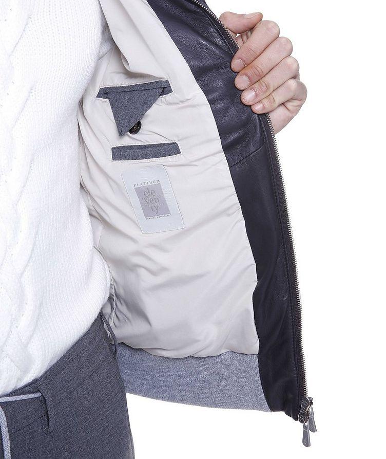 Padded Nappa Leather Bomber Jacket image 4