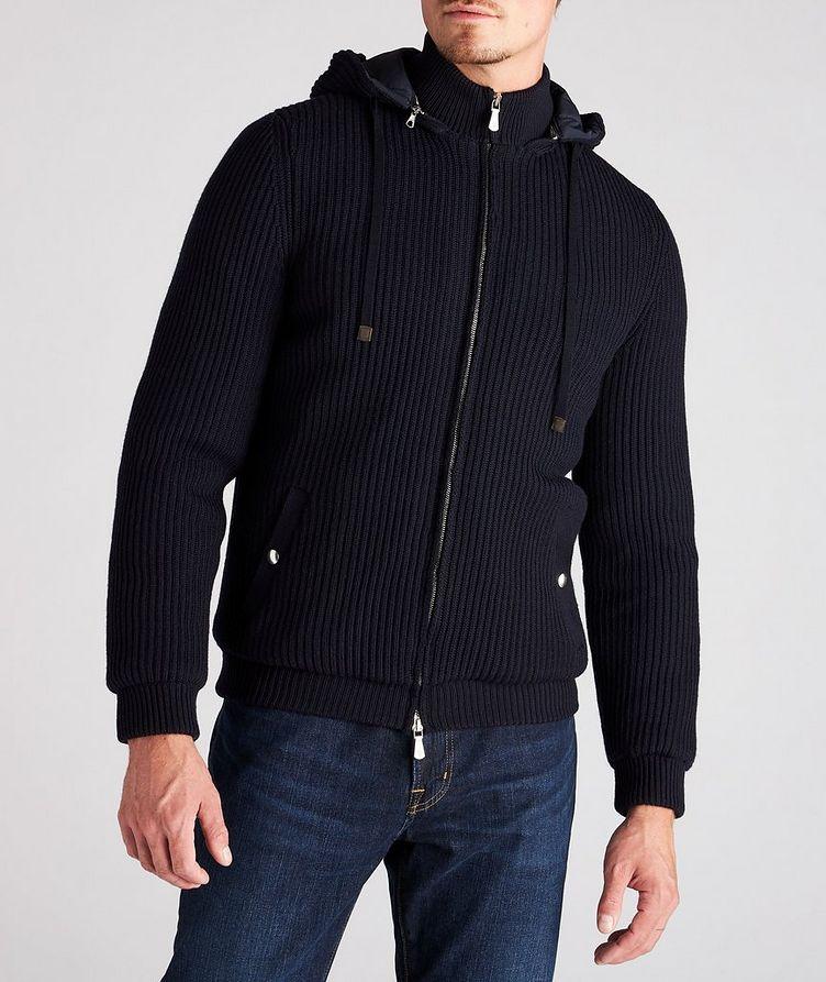 Hooded Wool Bomber Jacket image 1