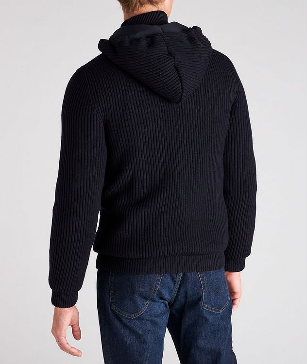 Hooded Wool Bomber Jacket picture 3