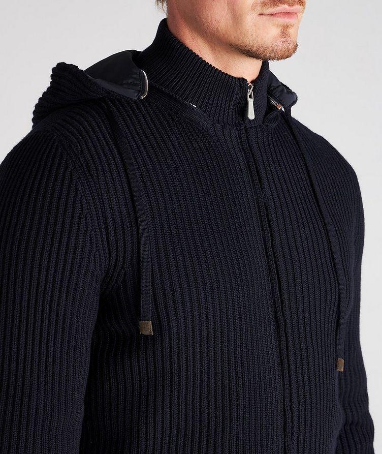 Hooded Wool Bomber Jacket image 5
