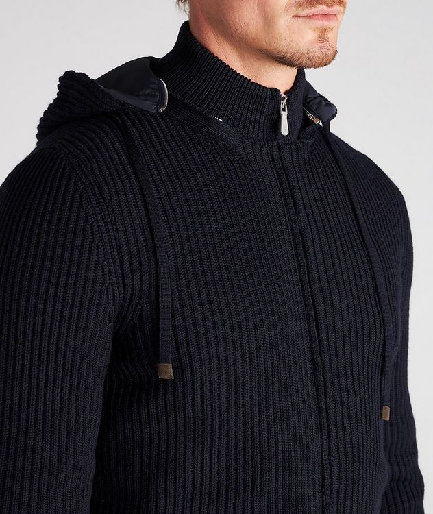 Hooded Wool Bomber Jacket picture 6