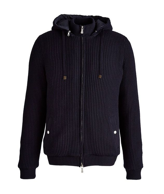 Hooded Wool Bomber Jacket picture 1
