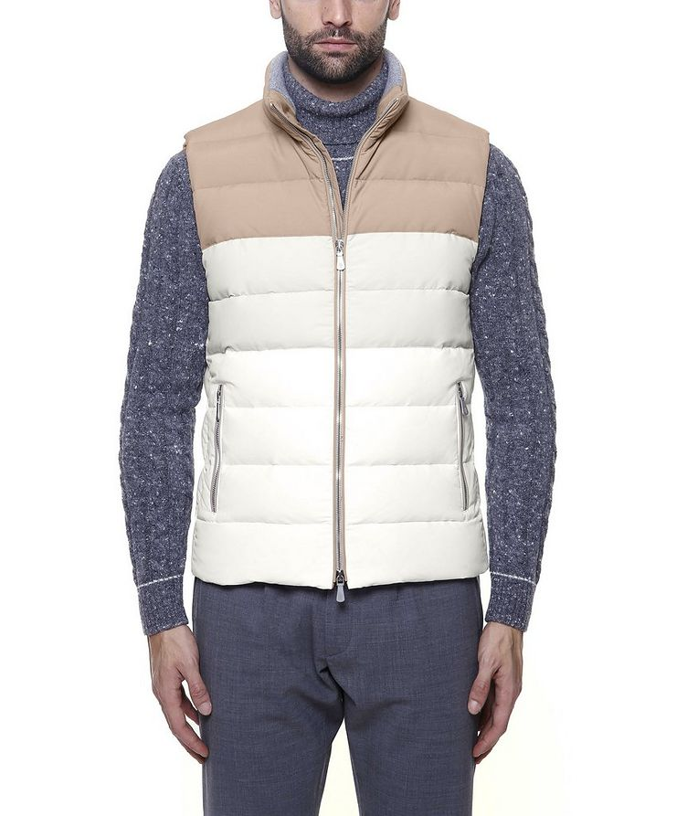 Two-Tone Quilted Down Vest image 1