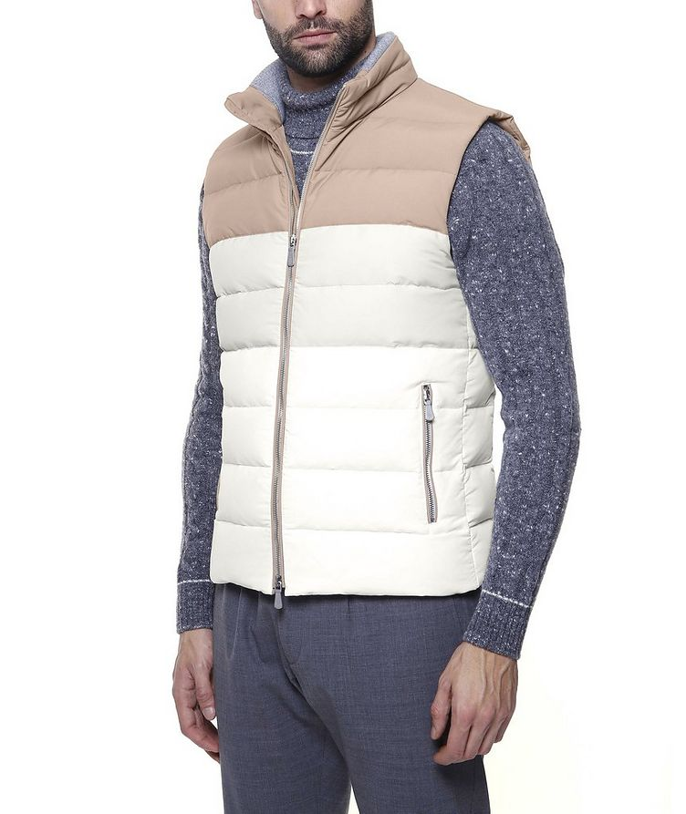 Two-Tone Quilted Down Vest image 3