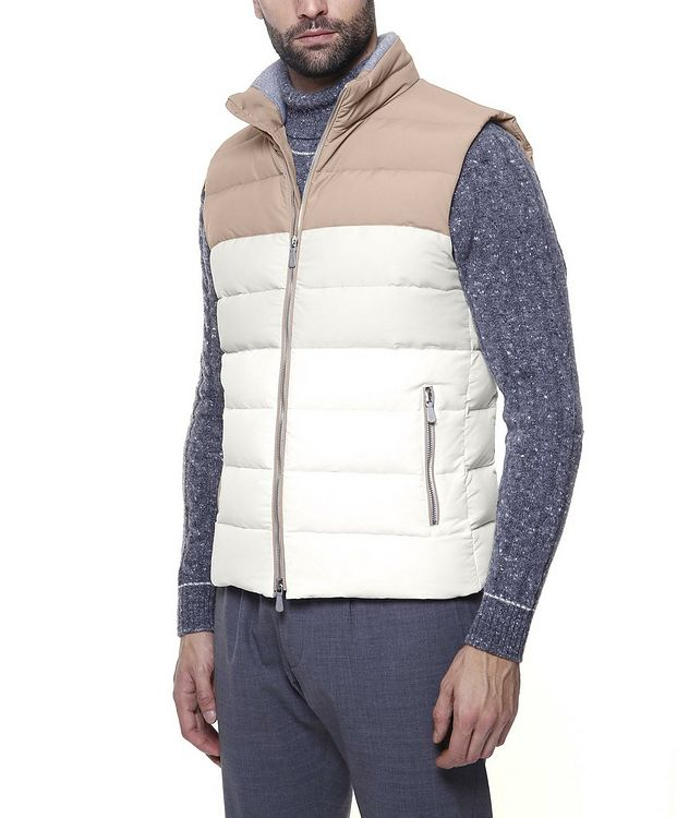 Two-Tone Quilted Down Vest picture 4
