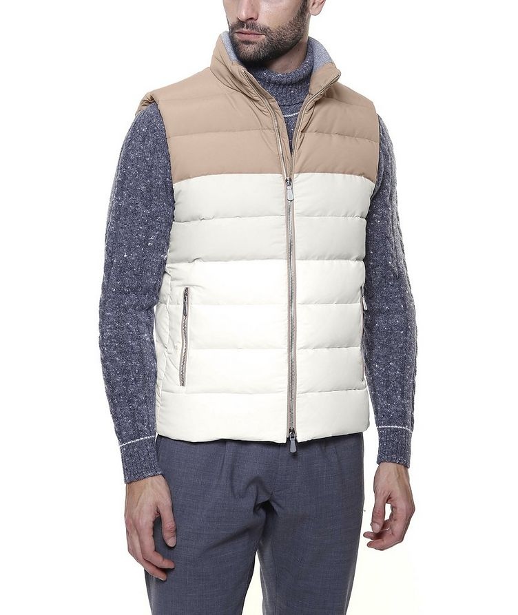 Two-Tone Quilted Down Vest image 4
