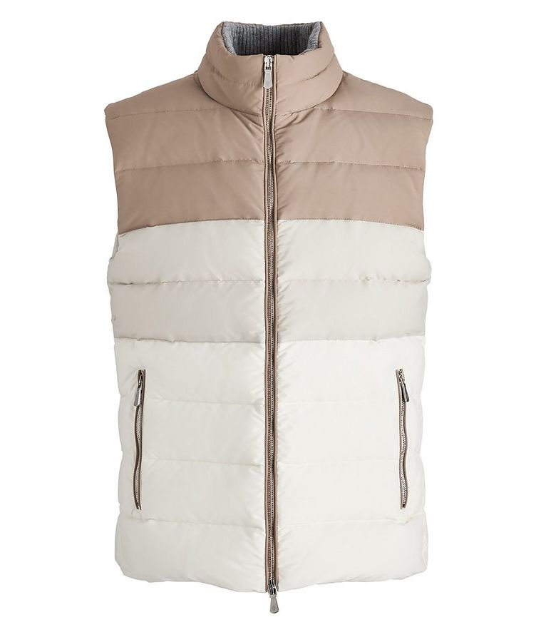 Two-Tone Quilted Down Vest image 0