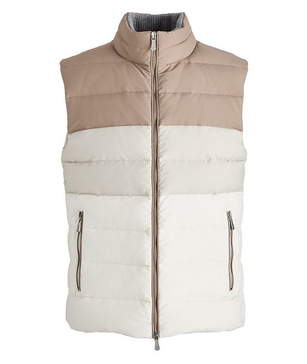 Two-Tone Quilted Down Vest picture 1
