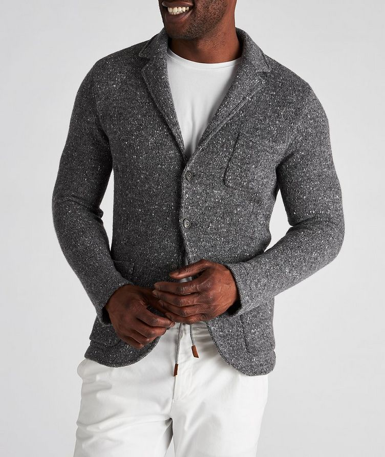 Knitted Wool-Cashmere Sports Jacket image 1
