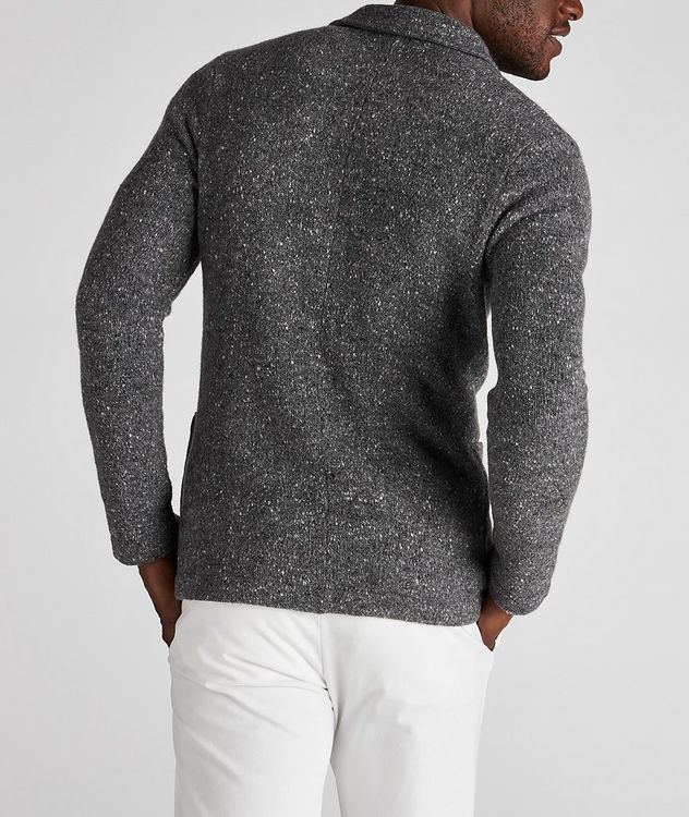 Knitted Wool-Cashmere Sports Jacket picture 3