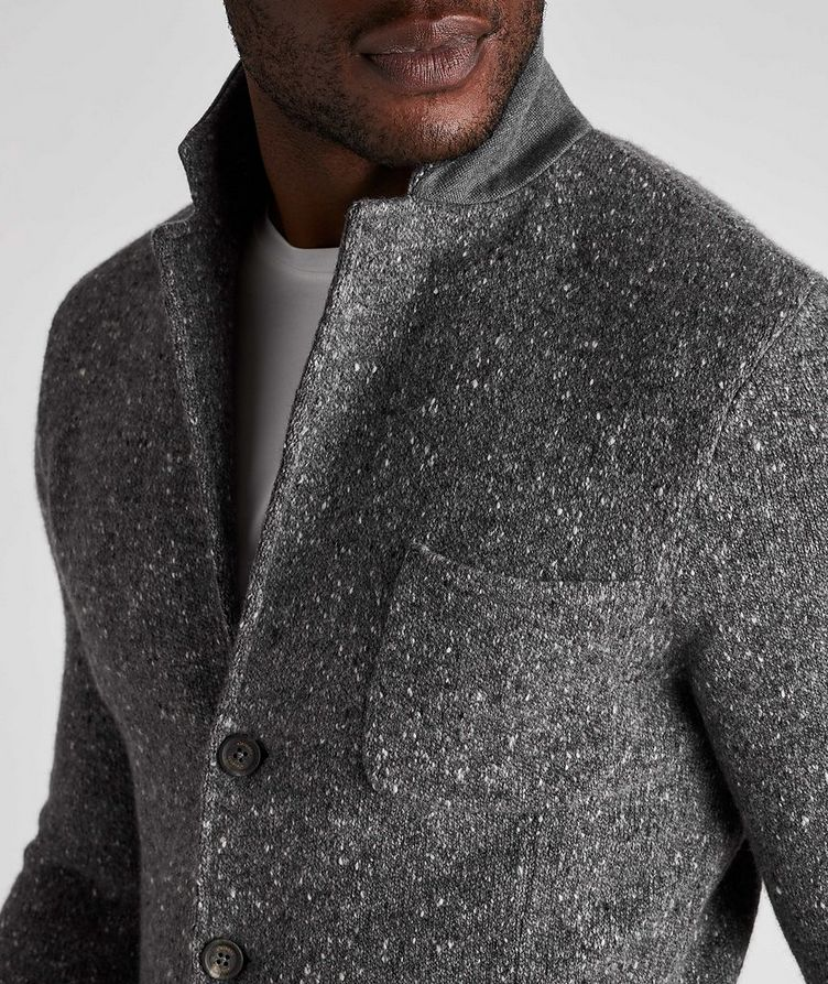 Knitted Wool-Cashmere Sports Jacket image 3