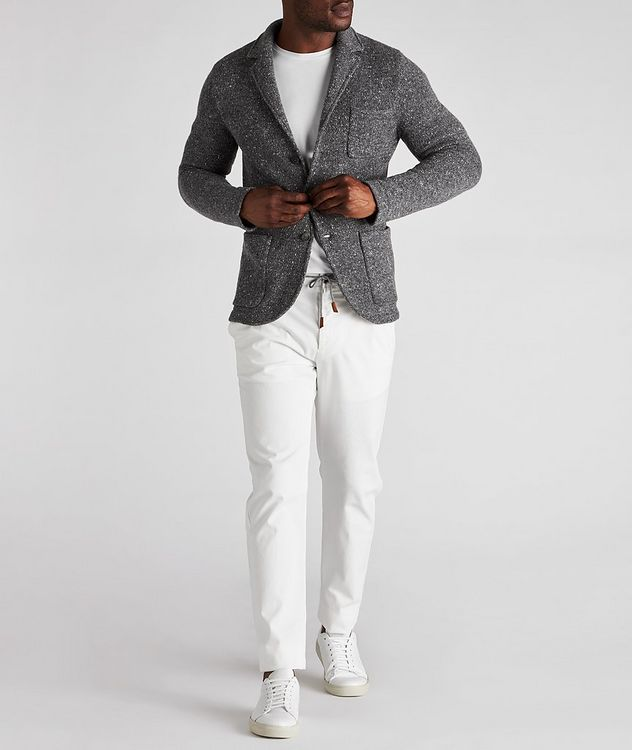 Knitted Wool-Cashmere Sports Jacket picture 5