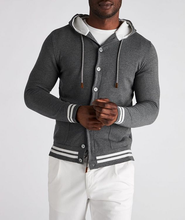 Hooded Wool Cardigan picture 2