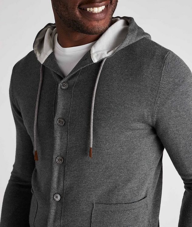 Hooded Wool Cardigan picture 4