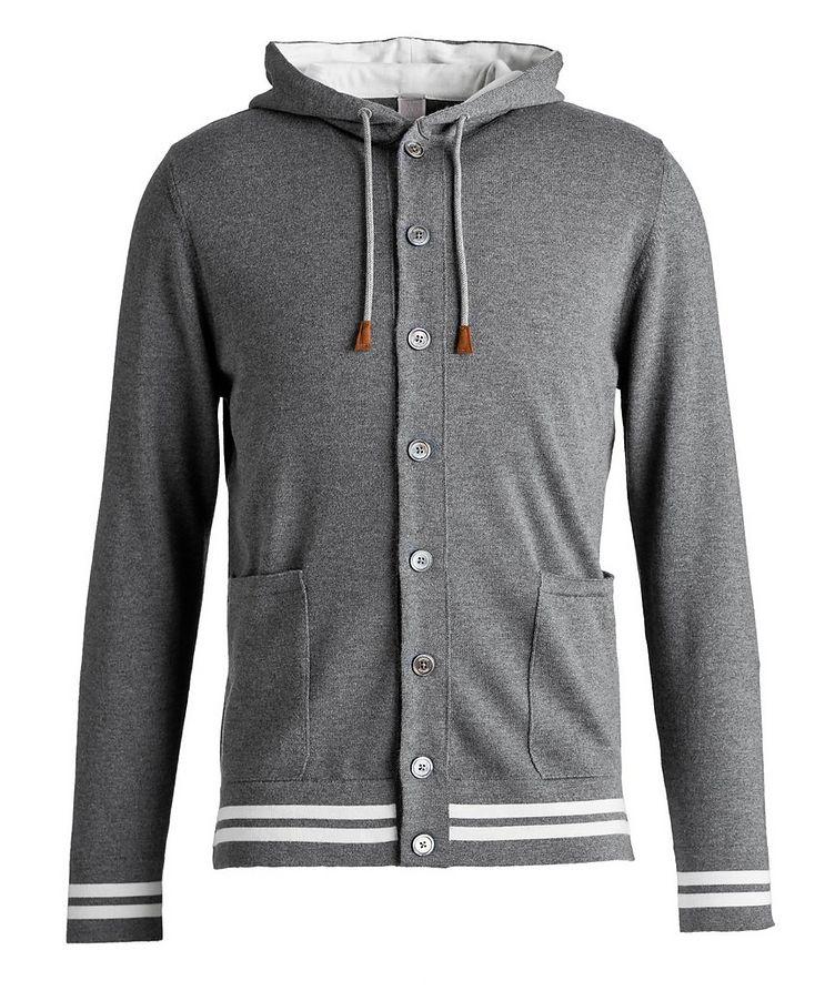 Hooded Wool Cardigan image 0